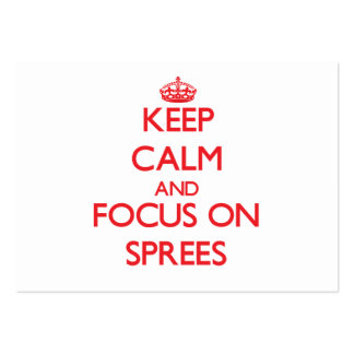 Keep Calm and focus on Sprees Large Business Cards (Pack Of 100)