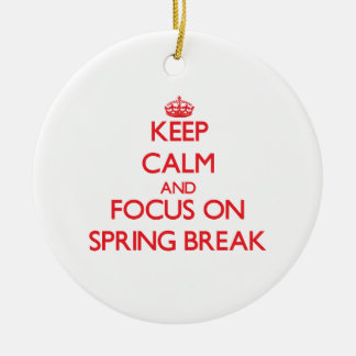 Keep Calm and focus on Spring Break Ornaments