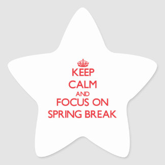 Keep Calm and focus on Spring Break Star Stickers