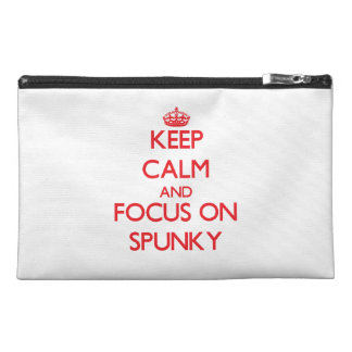 Keep Calm and focus on Spunky Travel Accessory Bag