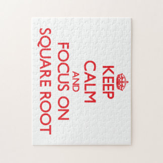 Keep Calm and focus on Square Root Jigsaw Puzzle