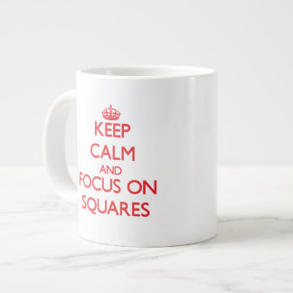 Keep Calm and focus on Squares Extra Large Mug