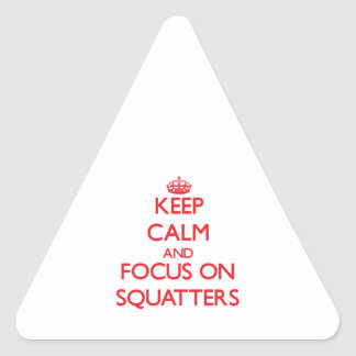 Keep Calm and focus on Squatters Triangle Sticker