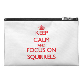 Keep calm and focus on Squirrels Travel Accessories Bags
