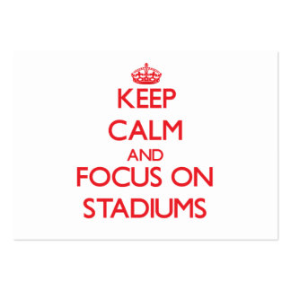 Keep Calm and focus on Stadiums Large Business Cards (Pack Of 100)