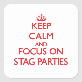 Keep Calm and focus on Stag Parties Stickers