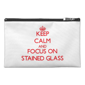 Keep Calm and focus on Stained Glass Travel Accessory Bags