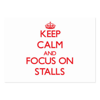 Keep Calm and focus on Stalls Large Business Cards (Pack Of 100)