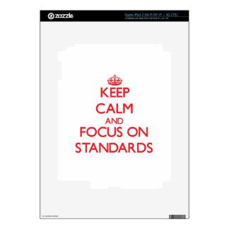 Keep Calm and focus on Standards iPad 3 Skin