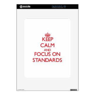 Keep Calm and focus on Standards iPad Skins