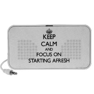 Keep Calm and focus on Starting Afresh Mp3 Speakers