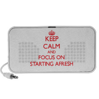 Keep Calm and focus on Starting Afresh Travelling Speaker