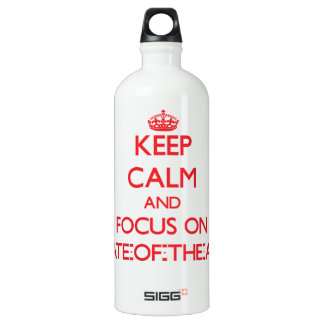 Keep Calm and focus on State-Of-The-Art SIGG Traveler 1.0L Water Bottle