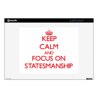 "Keep Calm and focus on Statesmanship 12"" Laptop Decal"