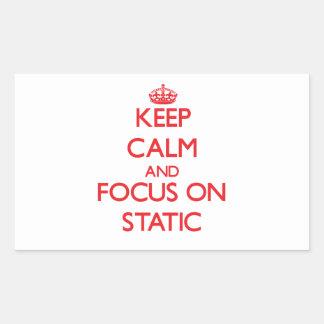 Keep Calm and focus on Static Rectangular Sticker