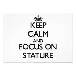 Keep Calm and focus on Stature Custom Invitation