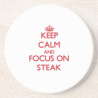 Keep Calm and focus on Steak Coasters