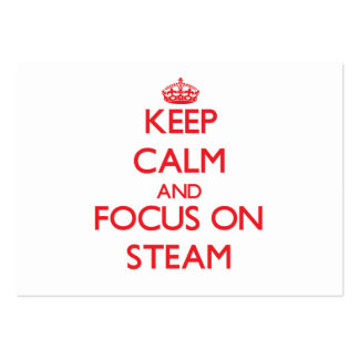 Keep Calm and focus on Steam Business Card Template