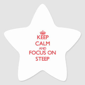 Keep Calm and focus on Steep Star Stickers