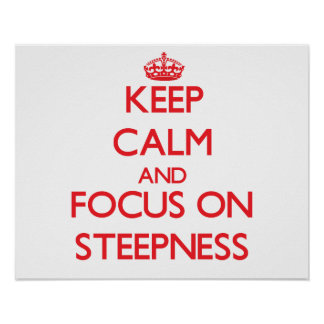 Keep Calm and focus on Steepness Poster