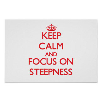 Keep Calm and focus on Steepness Print