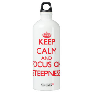 Keep Calm and focus on Steepness SIGG Traveler 1.0L Water Bottle