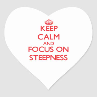 Keep Calm and focus on Steepness Stickers
