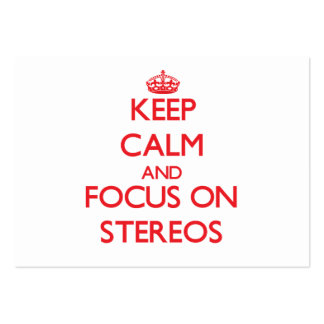Keep Calm and focus on Stereos Business Card Templates