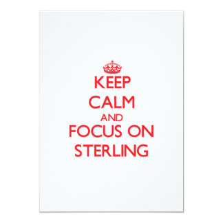 Keep Calm and focus on Sterling 5x7 Paper Invitation Card