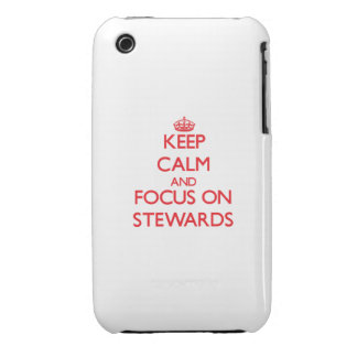 Keep Calm and focus on Stewards iPhone 3 Cover