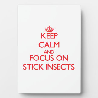 Keep calm and focus on Stick Insects Plaque