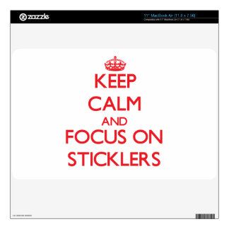 Keep Calm and focus on Sticklers Decal For The MacBook Air