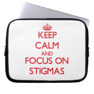 Keep Calm and focus on Stigmas Computer Sleeves