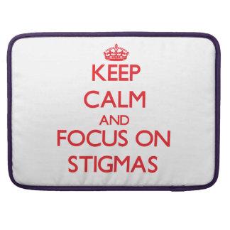 Keep Calm and focus on Stigmas MacBook Pro Sleeves