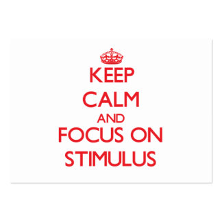Keep Calm and focus on Stimulus Large Business Cards (Pack Of 100)
