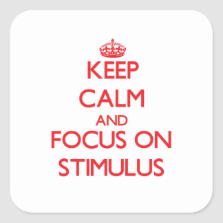 Keep Calm and focus on Stimulus Sticker