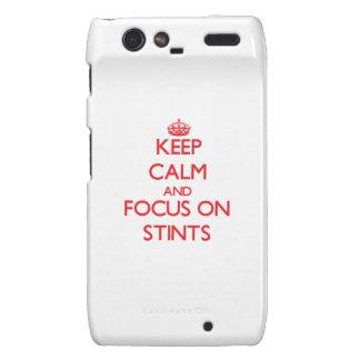 Keep Calm and focus on Stints Motorola Droid RAZR Cases
