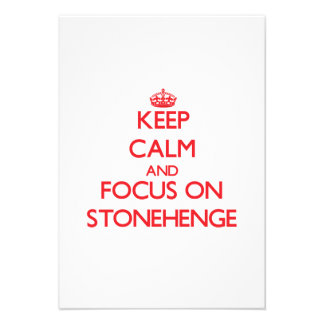 Keep Calm and focus on Stonehenge Personalized Invites