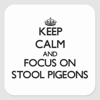 Keep Calm and focus on Stool Pigeons Square Sticker