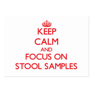 Keep Calm and focus on Stool Samples Large Business Cards (Pack Of 100)