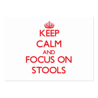 Keep Calm and focus on Stools Large Business Cards (Pack Of 100)