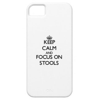 Keep Calm and focus on Stools iPhone 5/5S Cover