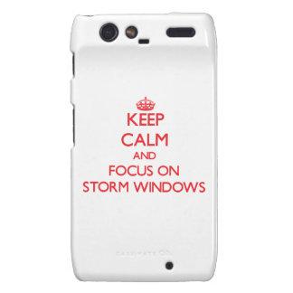 Keep Calm and focus on Storm Windows Razr Case