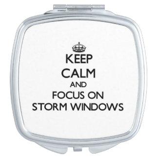 Keep Calm and focus on Storm Windows Vanity Mirrors