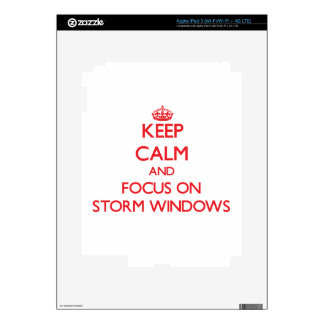 Keep Calm and focus on Storm Windows Decals For iPad 3