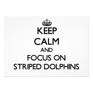 Keep calm and focus on Striped Dolphins Cards