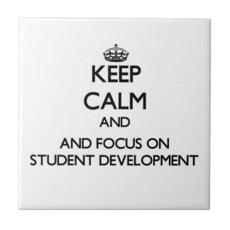Keep calm and focus on Student Development Ceramic Tiles
