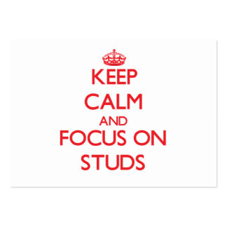 Keep Calm and focus on Studs Business Card Templates