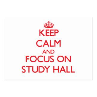 Keep Calm and focus on Study Hall Business Cards