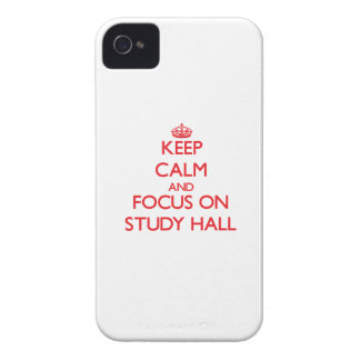 Keep Calm and focus on Study Hall iPhone 4 Case-Mate Cases